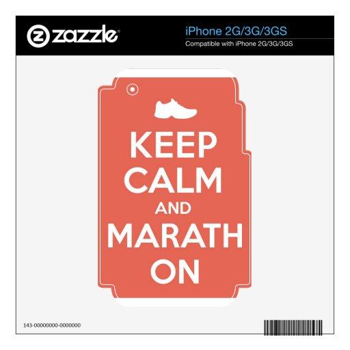 Guarde la calma y el maratón skins para eliPhone 3