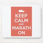 Guarde la calma y el maratón tapetes de ratones