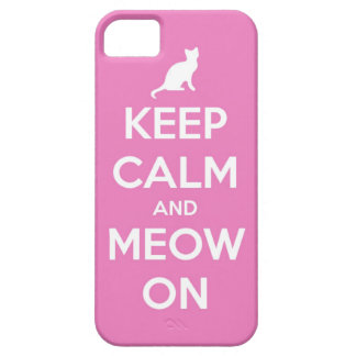 Guarde la calma y el maullido en rosa funda para iPhone SE/5/5s