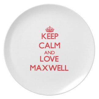 Guarde la calma y el maxwell del amor plato de comida