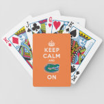 Guarde la calma y el naranja del cocodrilo encendi cartas de juego