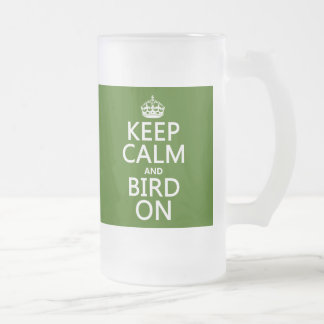 Guarde la calma y el pájaro en cualquier color tazas de café