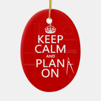 Guarde la calma y el plan en en cualquier color ornamente de reyes