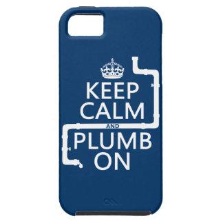 Guarde la calma y el plomo en (fontanero/la fontan iPhone 5 Case-Mate carcasas