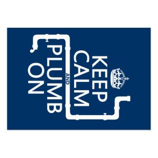 Guarde la calma y el plomo en (fontanero/la fontan tarjeta personal