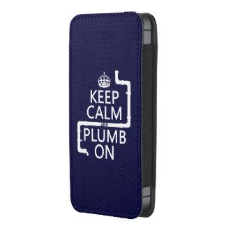 Guarde la calma y el plomo en (fontanero/la funda para iPhone 5