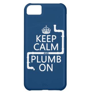 Guarde la calma y el plomo en (fontanero/la funda para iPhone 5C