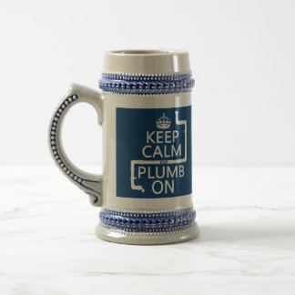 Guarde la calma y el plomo en (fontanero/la jarra de cerveza