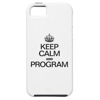 GUARDE LA CALMA Y EL PROGRAMA iPhone 5 Case-Mate CARCASA