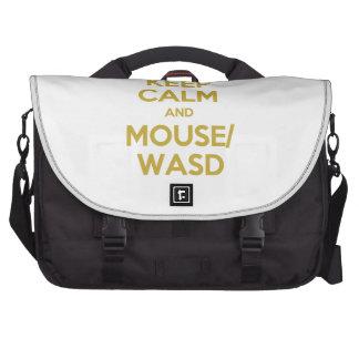 Guarde la calma y el ratón WASD Bolsas Para Ordenador