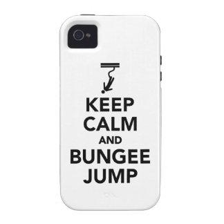 Guarde la calma y el salto del amortiguador iPhone 4 fundas