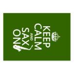 Guarde la calma y el saxofón (saxofón) en (cualqui tarjeta personal