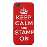 Guarde la calma y el sello en el caso de Iphone iPhone 5 Coberturas