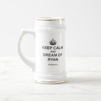 """""""Guarde la calma y el sueño las tazas de Ryan"""""""