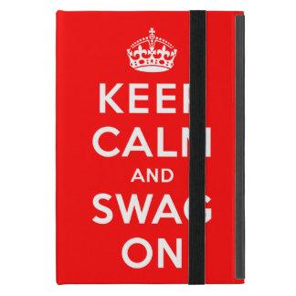 Guarde la calma y el Swag encendido iPad Mini Cobertura