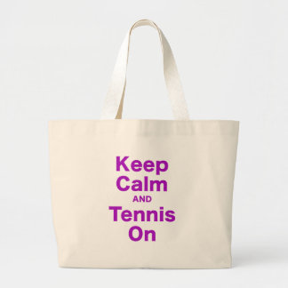 Guarde la calma y el tenis encendido bolsas