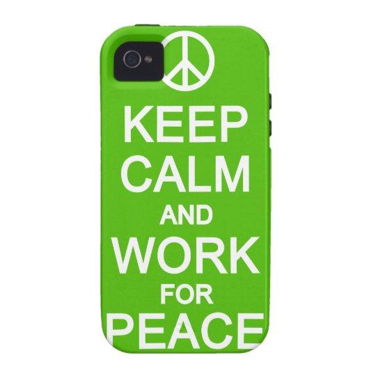 Guarde la calma y el trabajo para la casamata del carcasa vibe iPhone 4