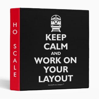 Guarde la calma y el trabajo sobre su disposición