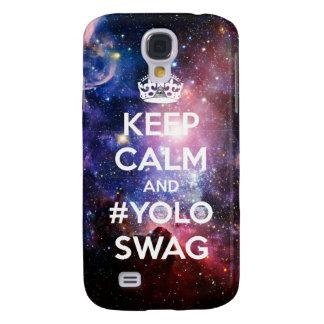 Guarde la calma y el #yoloswag funda para galaxy s4