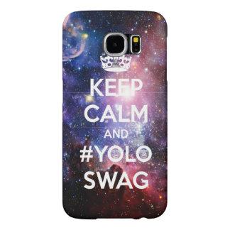 Guarde la calma y el #yoloswag fundas samsung galaxy s6