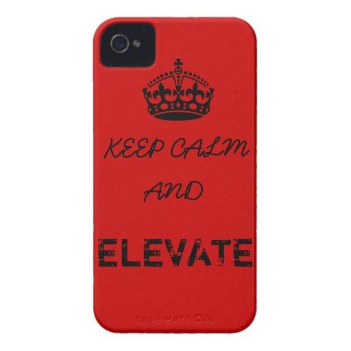 Guarde la calma y elévela iPhone 4 Case-Mate cárcasa