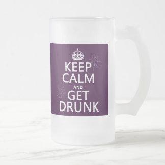 Guarde la calma y emborráchese los colores cambia taza de café