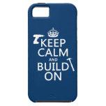 Guarde la calma y empléela (cualquier color de fon iPhone 5 carcasa