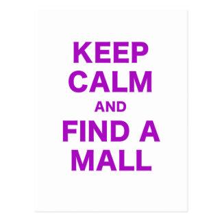 Guarde la calma y encuentre una alameda tarjeta postal