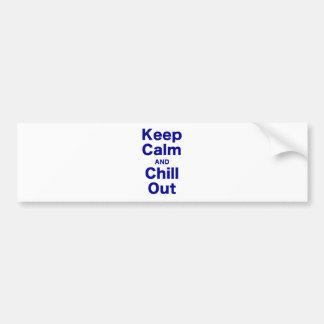 Guarde la calma y enfríese hacia fuera pegatina para auto