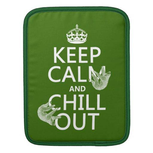 Guarde la calma y enfríese hacia fuera (pereza) (c manga de iPad
