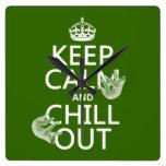Guarde la calma y enfríese hacia fuera (pereza) (c relojes