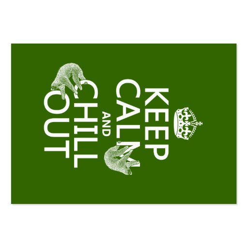 Guarde la calma y enfríese hacia fuera (pereza) (c plantilla de tarjeta de negocio