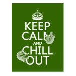 Guarde la calma y enfríese hacia fuera (pereza) (c postales