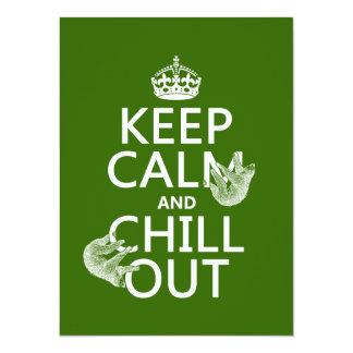 """Guarde la calma y enfríese hacia fuera (pereza) invitación 5.5"""" x 7.5"""""""