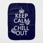Guarde la calma y enfríese hacia fuera (pereza) paños para bebé