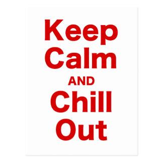Guarde la calma y enfríese hacia fuera postal