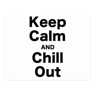 Guarde la calma y enfríese hacia fuera tarjetas postales