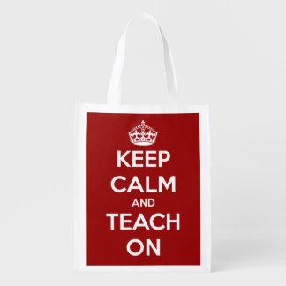 Guarde la calma y enséñela en bolso personalizado bolsas para la compra