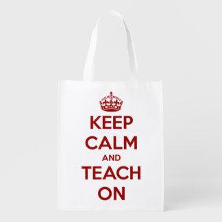 Guarde la calma y enséñela en bolso personalizado bolsa para la compra