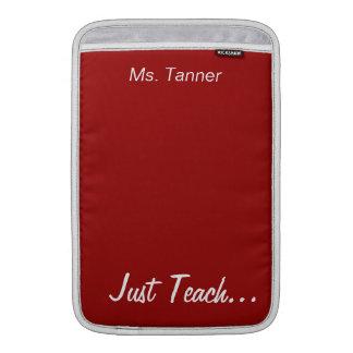 Guarde la calma y enséñela en el rojo personalizad fundas macbook air