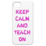 Guarde la calma y enséñela en la caja del teléfono iPhone 5 Case-Mate protectores