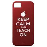 Guarde la calma y enséñela encendido iPhone 5 Case-Mate funda