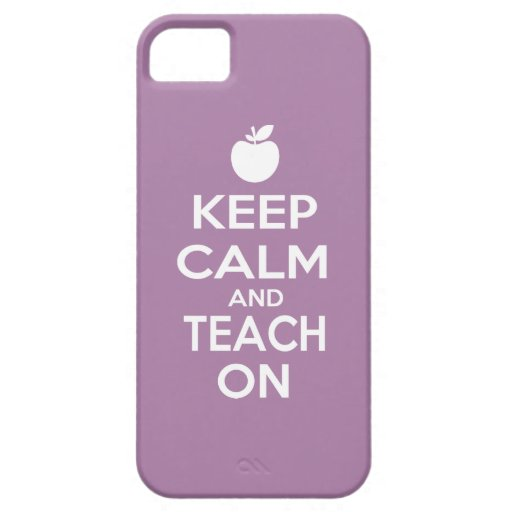 Guarde la calma y enséñela encendido iPhone 5 cárcasa