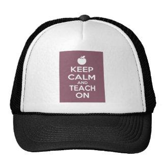 Guarde la calma y enséñela encendido gorras