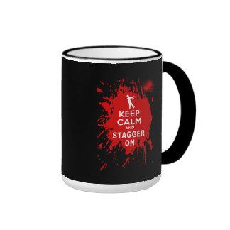 Guarde la calma y escalónela encendido con la salp tazas de café