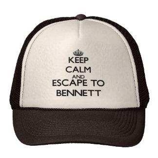 Guarde la calma y escápese a Bennett New Jersey Gorra