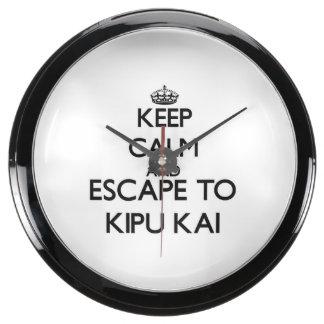 Guarde la calma y escápese a Kipu Kai Hawaii Relojes Aqua Clock
