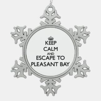Guarde la calma y escápese a la bahía agradable adornos