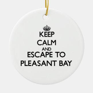 Guarde la calma y escápese a la bahía agradable adorno
