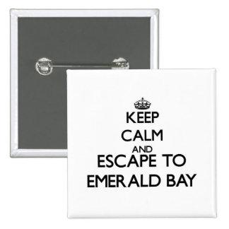 Guarde la calma y escápese a la bahía esmeralda pins